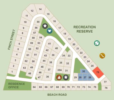 Map of Werribee South Caravan Park