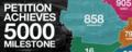 Petition achieves 5000 milestone